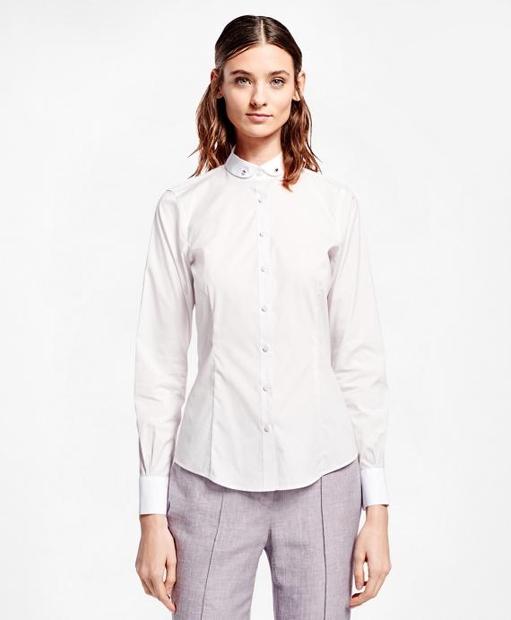 Tailored Club Collar Cotton Poplin Shirt
