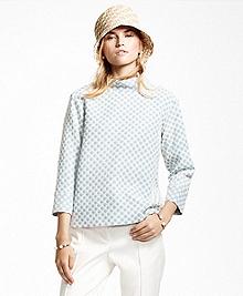 Positive-Negative Cotton-Blend Tunic