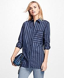 Striped Cotton Dobby Tunic