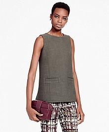 Sleeveless Wool-Blend Tunic