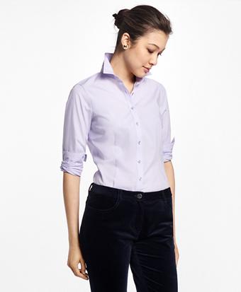 Tailored-Fit Stretch-Cotton-Poplin Dress Shirt