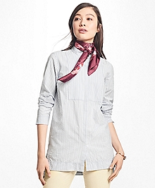 Striped Cotton Seersucker Tunic