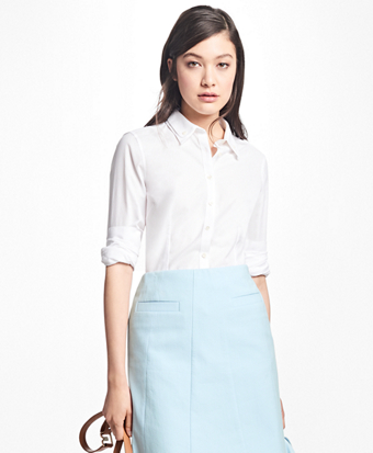 Tailored-Fit Cotton Double-Collar Shirt