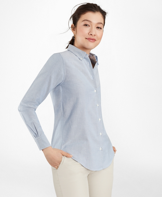 Classic fit supima cotton oxford button down shirt for Brooks brothers garland shirt factory