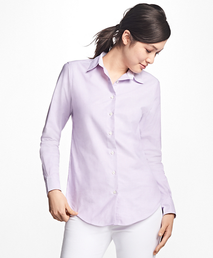 Classic-Fit Supima® Cotton Oxford Forward-Point Shirt