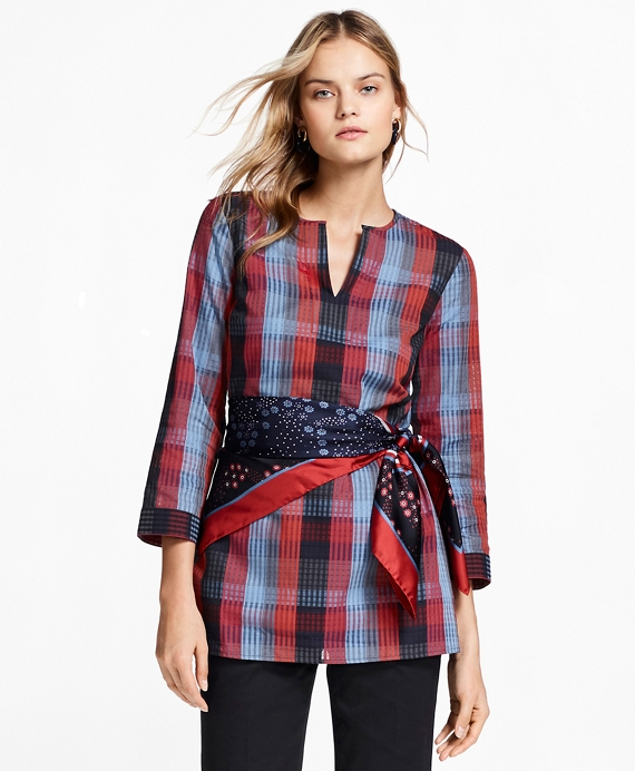 Plaid Cotton Tunic Multi