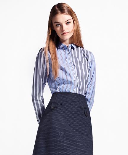 Non-Iron Tailored-Fit Striped Stretch-Cotton Fun Shirt