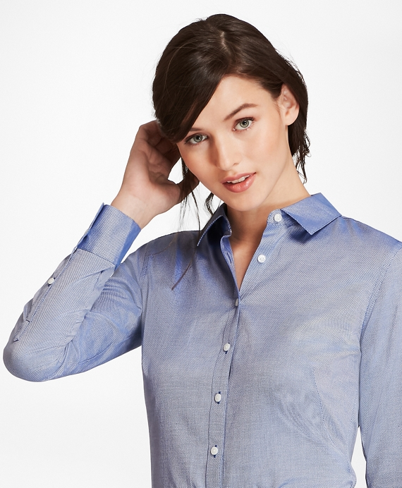 Cotton Royal Oxford Fitted Shirt Navy