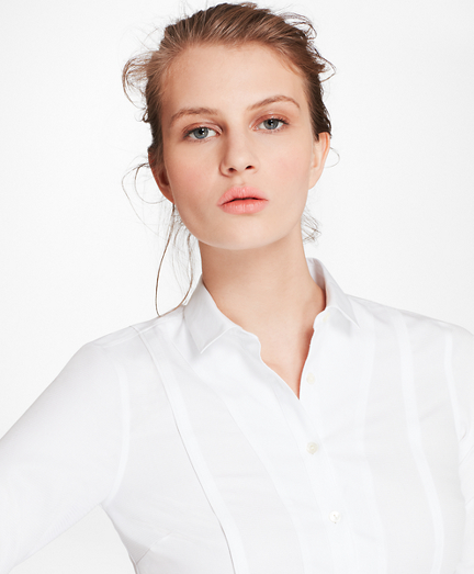 Tailored-Fit Broadcloth and Dobby Cotton Shirt