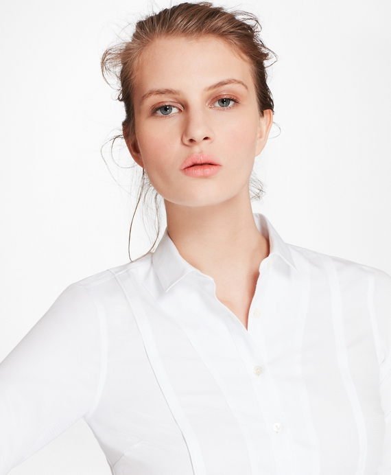 Tailored-Fit Broadcloth and Dobby Cotton Shirt White