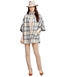 Wool Plaid Cape