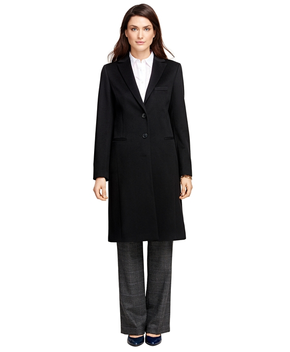 Single-Breasted Wool Coat Black