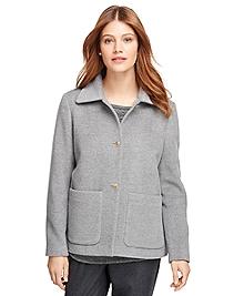 Angora Wool Short Coat
