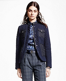 Quilted Indigo Jacket