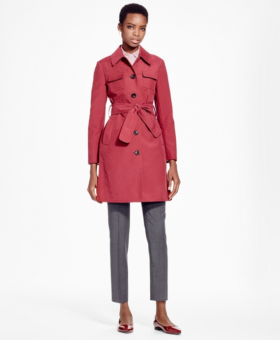 Double-Face Water-Repellant Coat Red Pink
