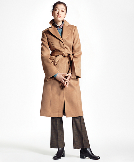 Loro Piana® Single-Breasted Camel Hair Coat
