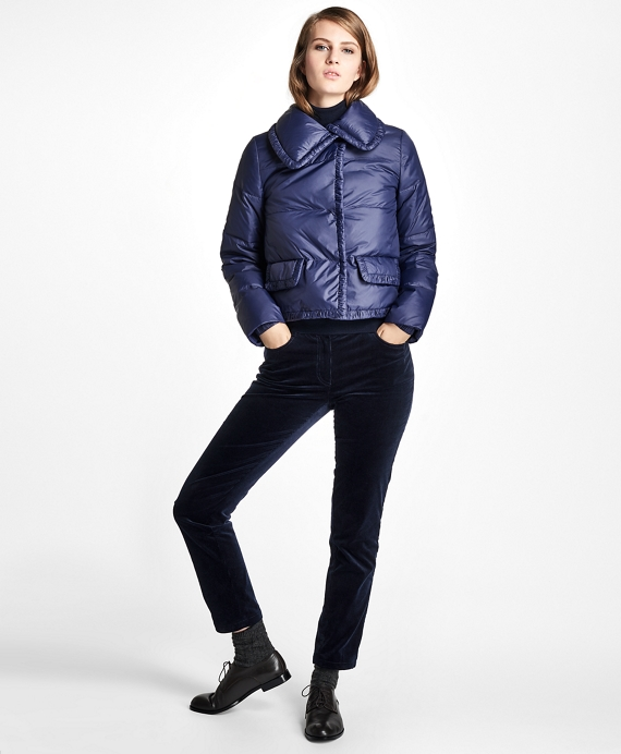 Cropped Puffer Jacket Navy