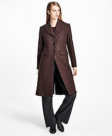 Wool-Blend Muted Leopard-Print Coat