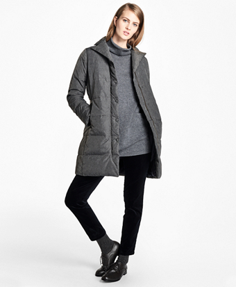 Water-Resistant Quilted Down Coat