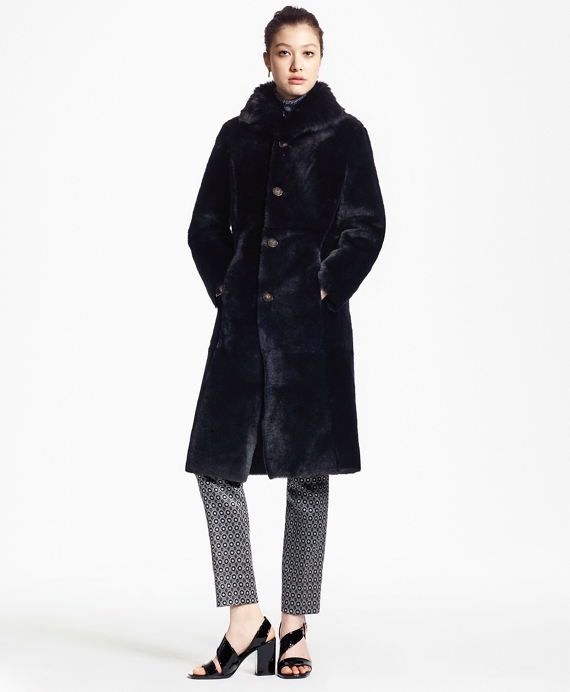 Reversible Shearling and Leather Coat