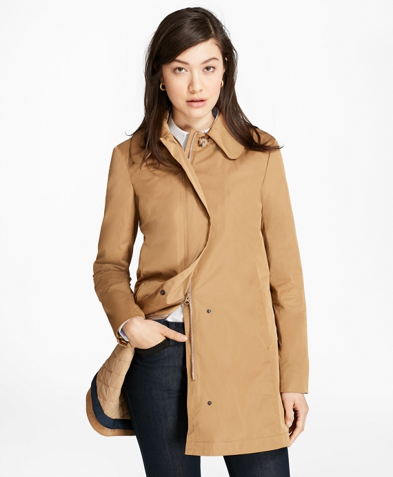 Peter Pan Collar Coat Tan