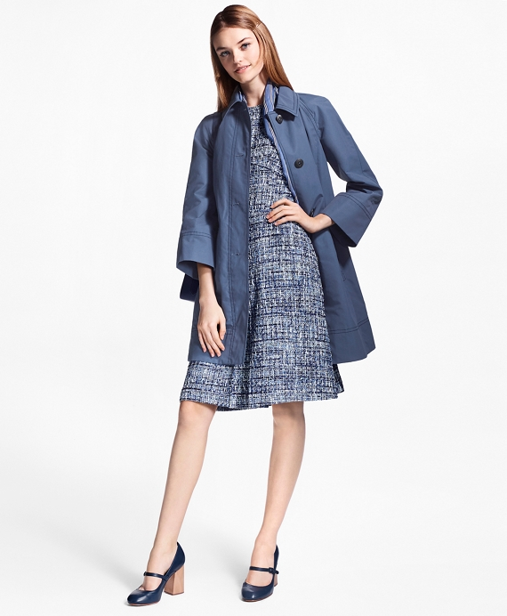 Water-Repellent Stretch-Cotton Swing Coat