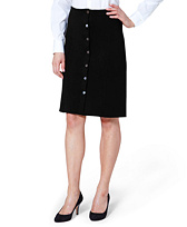 Merino Wool Button-Front Skirt