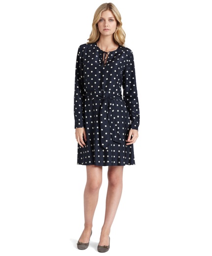 Silk Polka Dot Dress