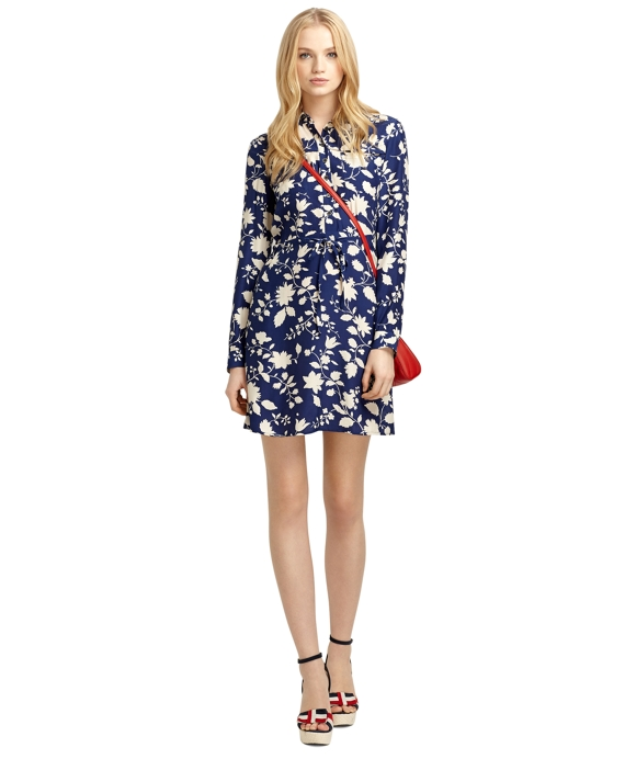 Sale alerts for Brooks Brothers Silk Wildflower Print Dress - Covvet
