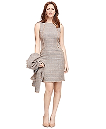 Tweed Boucle Sleeveless Dress