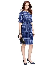 Cotton Windowpane Dress
