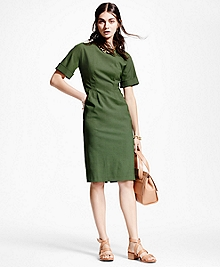 Wool-Blend Sheath Dress