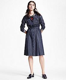 Washed Chambray Shirt Dress