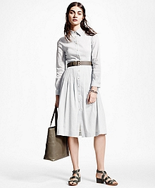 Stretch Linen Shirt Dress