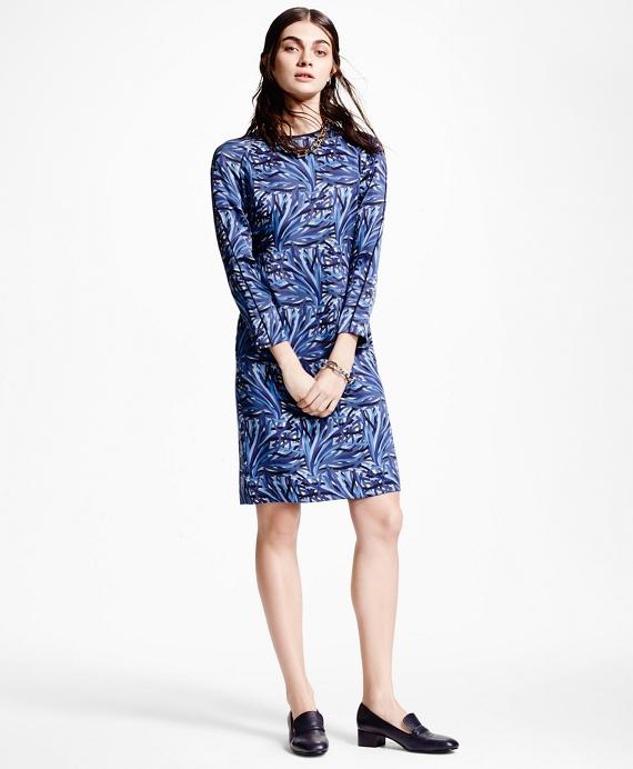 Silk Charmeuse Print Shift Dress