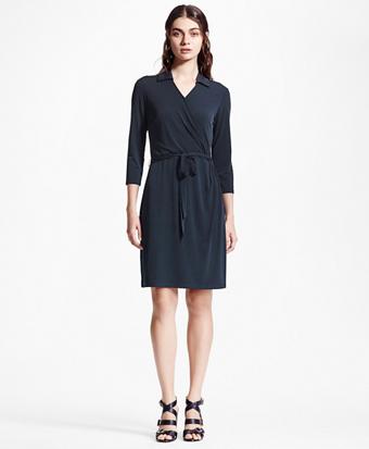 Stretch Jersey Wrap Dress