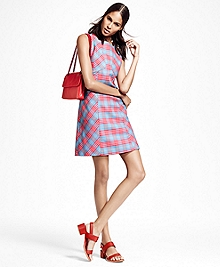 Sleeveless Cotton Plaid Dress