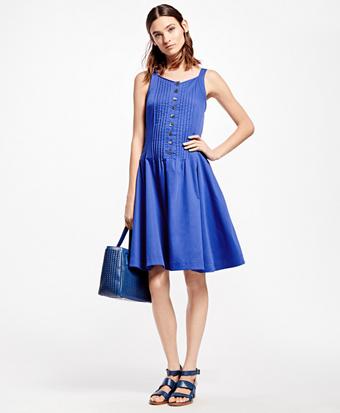 Sleeveless Cotton Sateen Dress