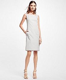 Sleeveless Seersucker Dress