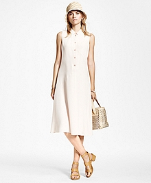 Bias Cut Mandarin-Collar Dress