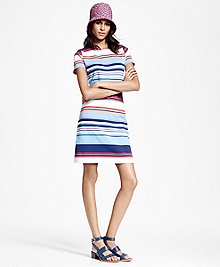 Striped Interlocked Cotton Dress