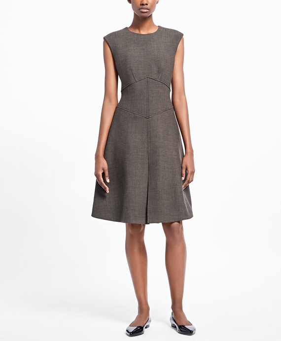 Sleeveless A-Line Dress - Brooks Brothers