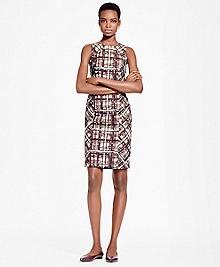 Plaid Jacquard Cotton Sheath Dress