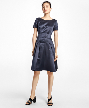 Silk Fit-and-Flare Dress