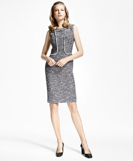 Tweed Fringe Sheath Dress
