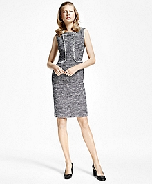 Tweed Fringe Sheath Dress