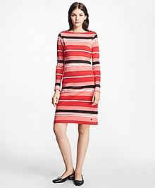Cabana Stripe Boatneck Dress