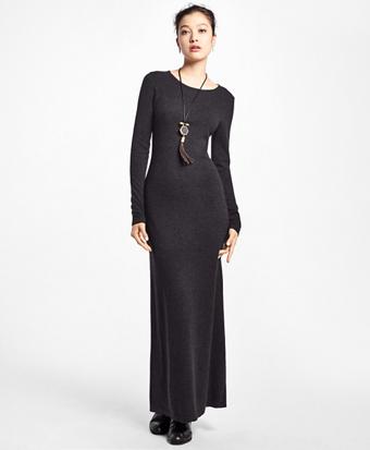 Cashmere Full-Length Sweater Dress