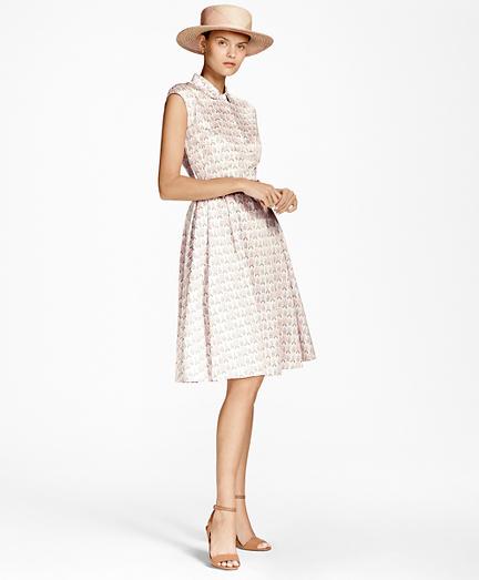 Floral Cotton-Sateen Shirt Dress