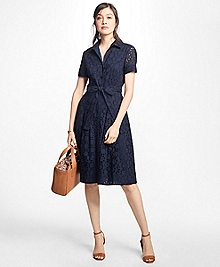 Cotton Eyelet Shirt Dress